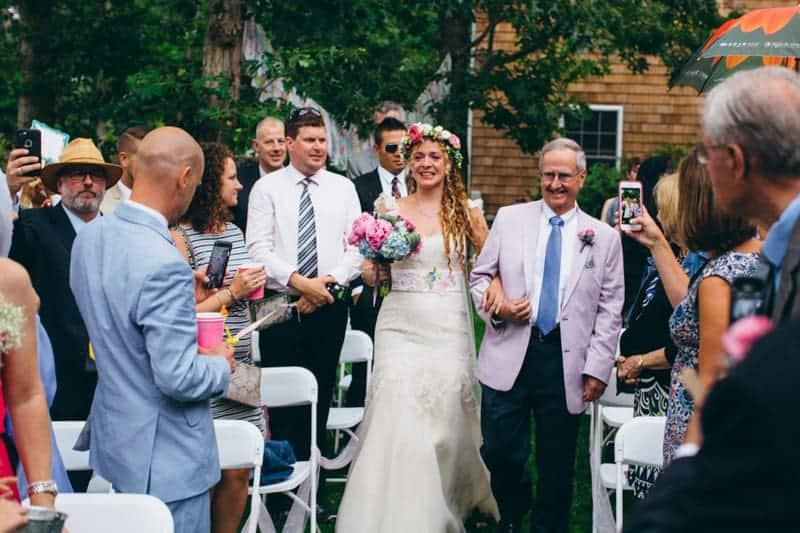 Backyard Flamino themed DIY Wedding in South Hampton USA  (19)