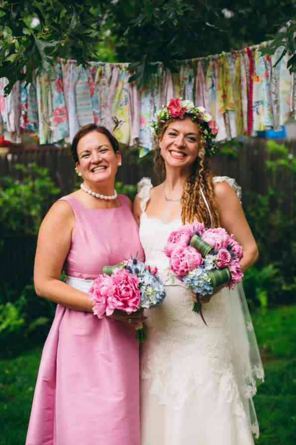 Backyard Flamino themed DIY Wedding in South Hampton USA (23)