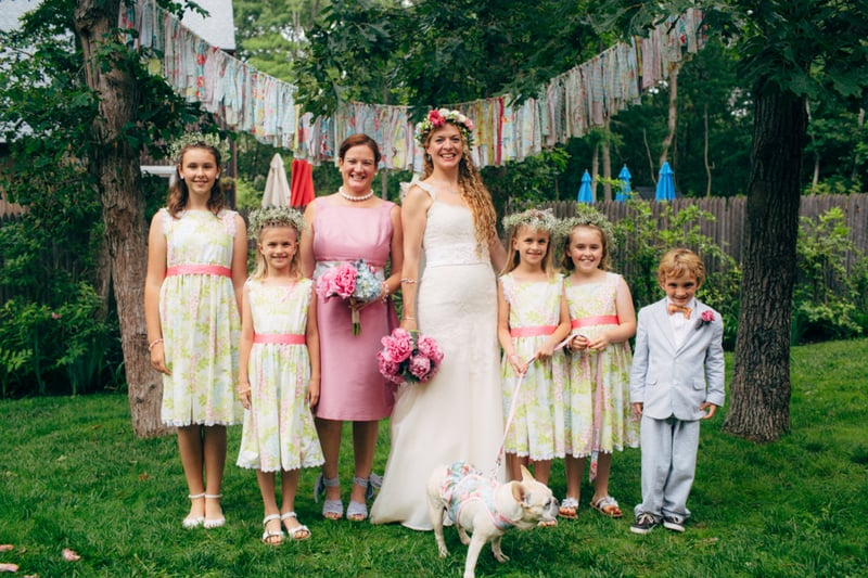 Backyard Flamino themed DIY Wedding in South Hampton USA  (26)