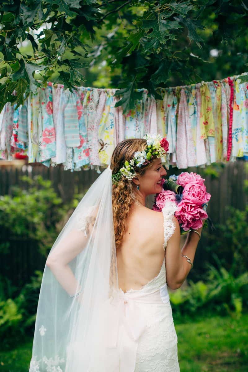 Backyard Flamino themed DIY Wedding in South Hampton USA  (28)