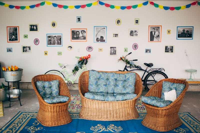 Backyard Flamino themed DIY Wedding in South Hampton USA  (4)