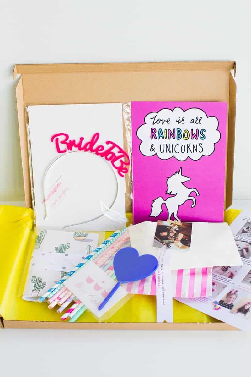 Bride Wedding DIY Subscription Box BB Crafty Club unboxing September