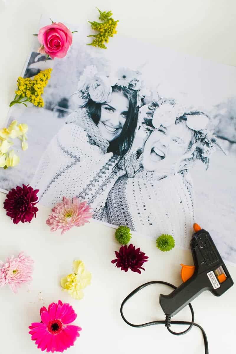 DIY 3D flower Photography Art Photo tutorial wedding decor fresh flowers for everyone-1
