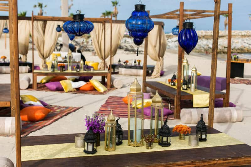 How to create a Moroccan-style party on the beach! (9)