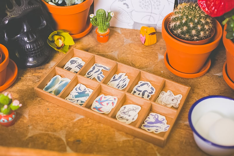 DIY temporary tattoo station with Doris Love Mexican Styling-3
