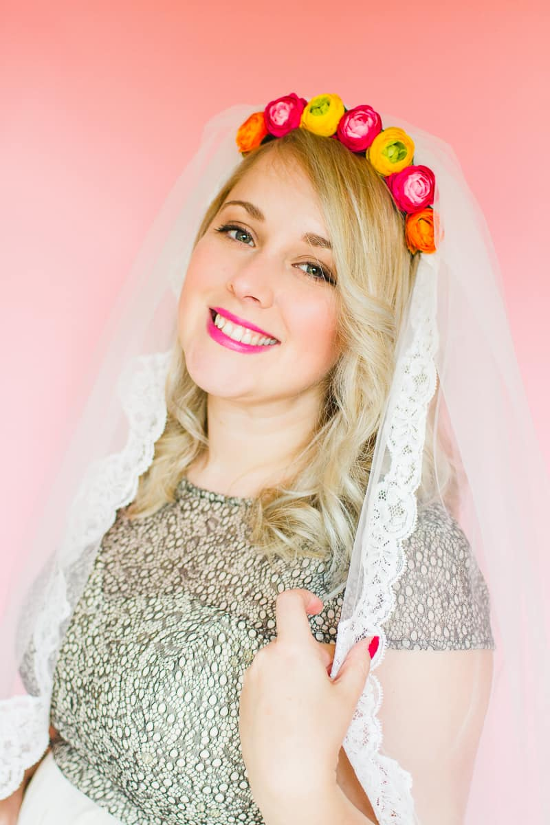 Styling wedding veils with floral flower crowns giant bows and boho headpieces for the modern bride britten weddings-5