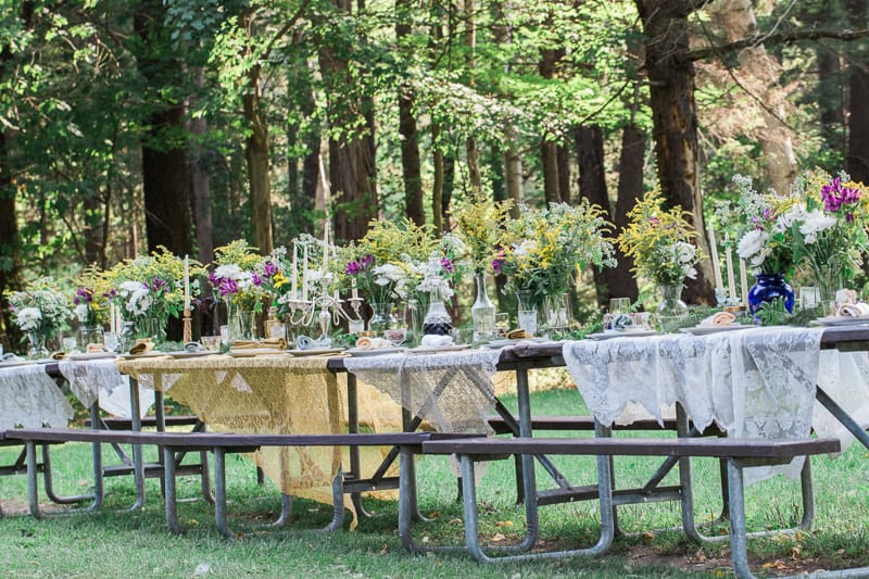 Whimsical Outdoor candles wedding garden intimate_-34