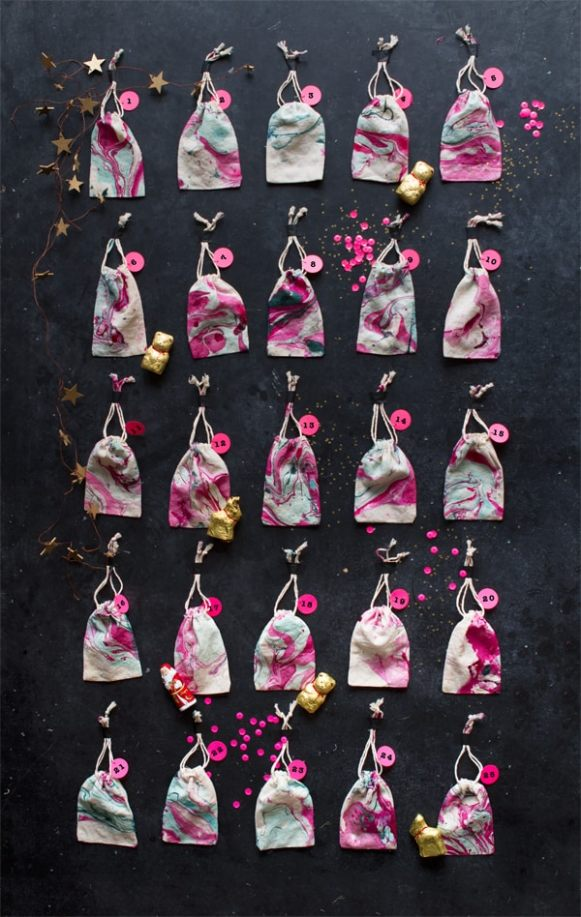 lindt_advent_hero marbled favour bags for christmas