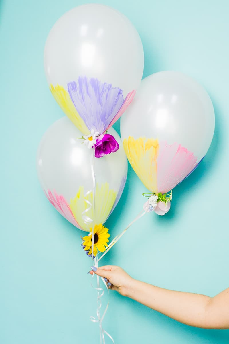 DIY watercolour balloons flowers spring wedding inspiration easter pretty how to_-3