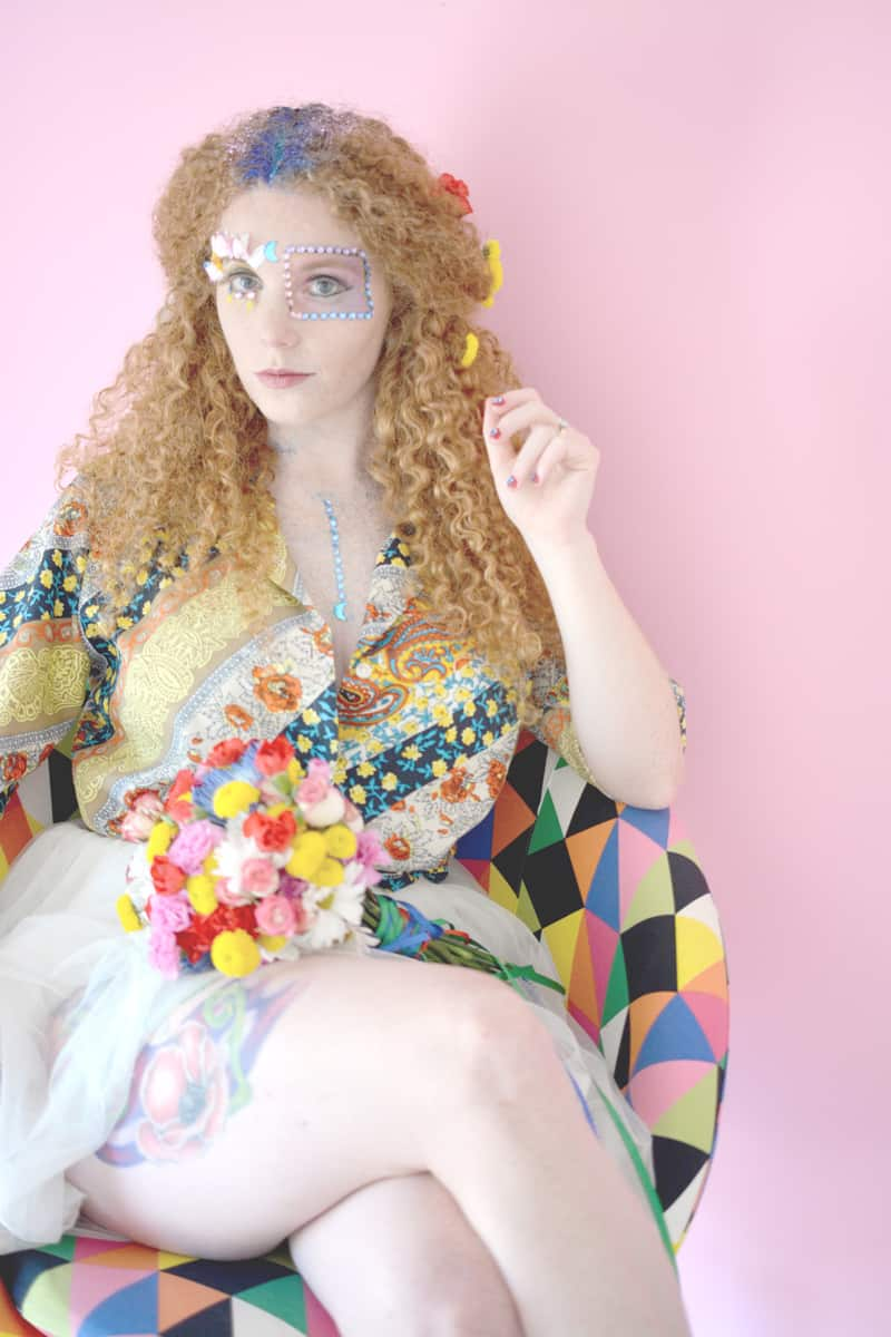Groovy 70s wedding inspiration with bold geometric prints and flowers 36