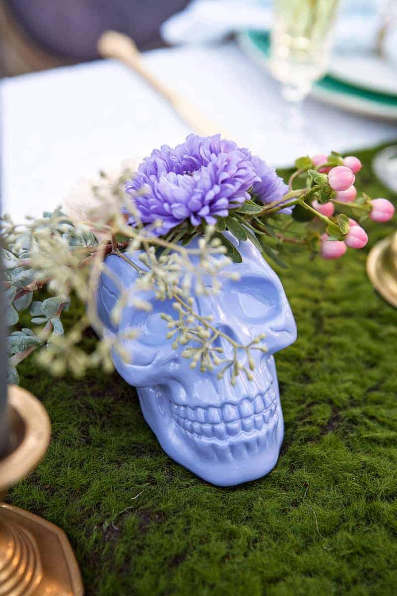 Spring style wedding inspiration skull theme scheme pastel colours modern_-13