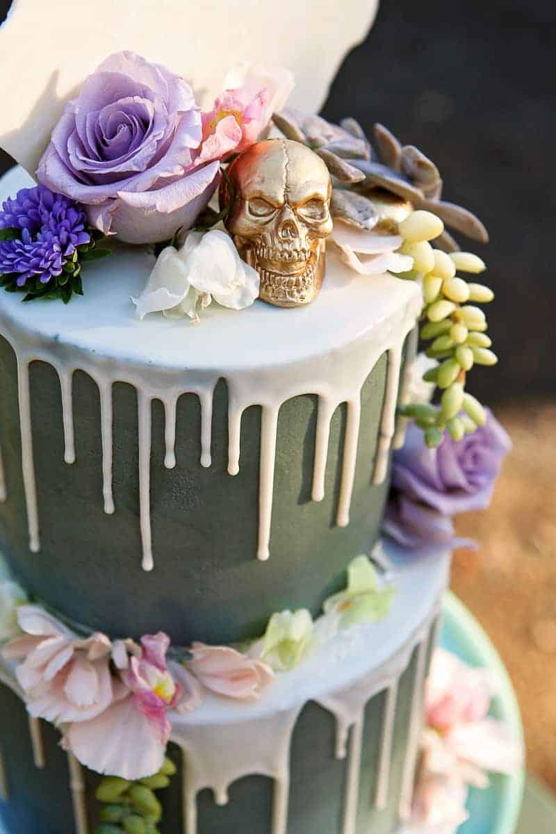 Spring style wedding inspiration skull theme scheme pastel colours modern_-4