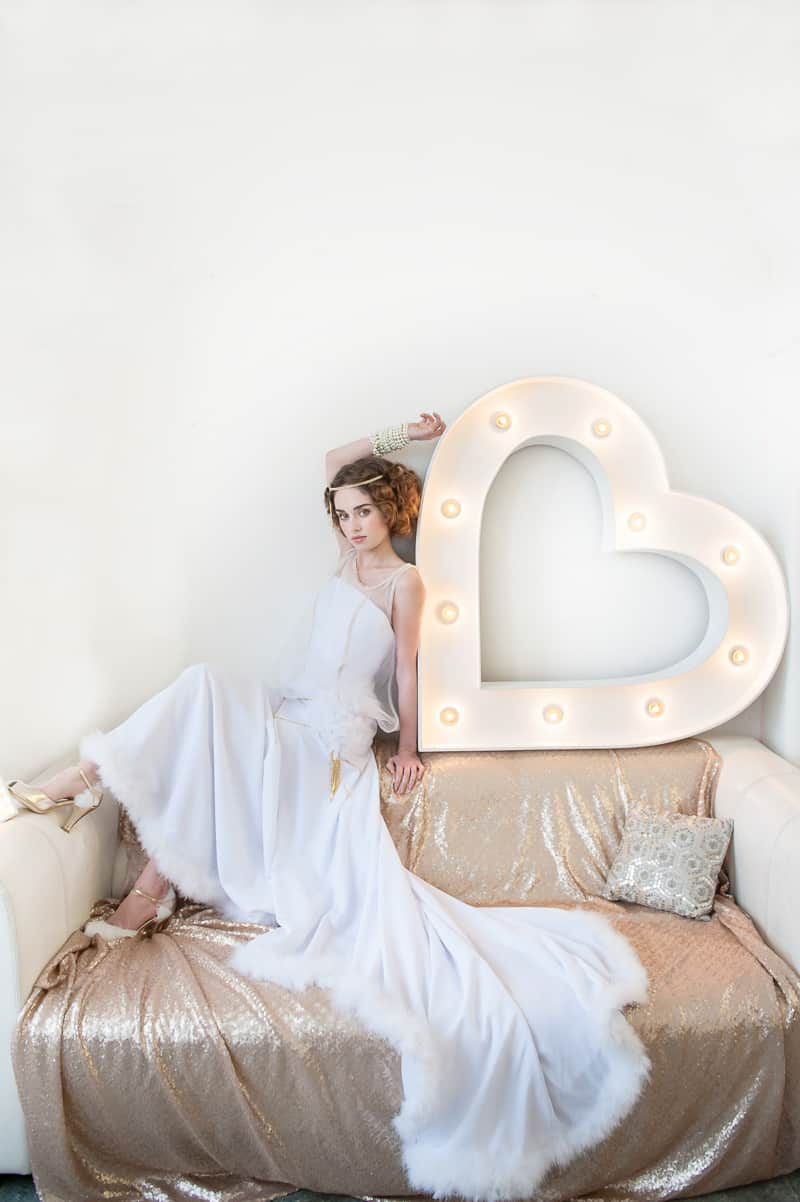 VAUDEVILLE VALENTINE Wedding inspiration Art Deco 1920s theme broadway bright lights and feathers_-23