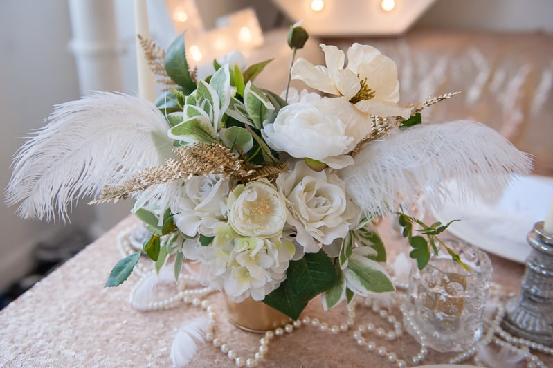 VAUDEVILLE VALENTINE Wedding inspiration Art Deco 1920s theme broadway bright lights and feathers_-4