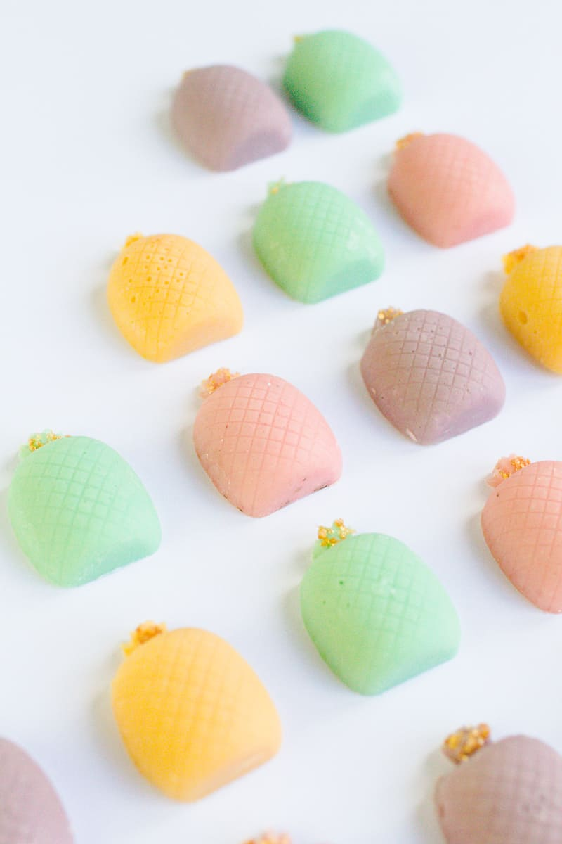 DIY mothers day gift favours chocolate pastel pineapples spring themed easter make your own-3