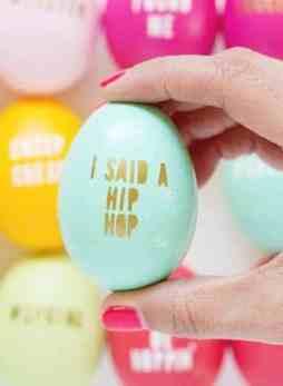 Pun Typography Eggs
