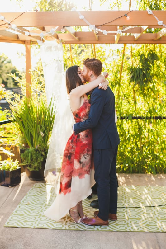 Wedding photos for Rory and Kristina at a private residence in SW Portland, Oregon.