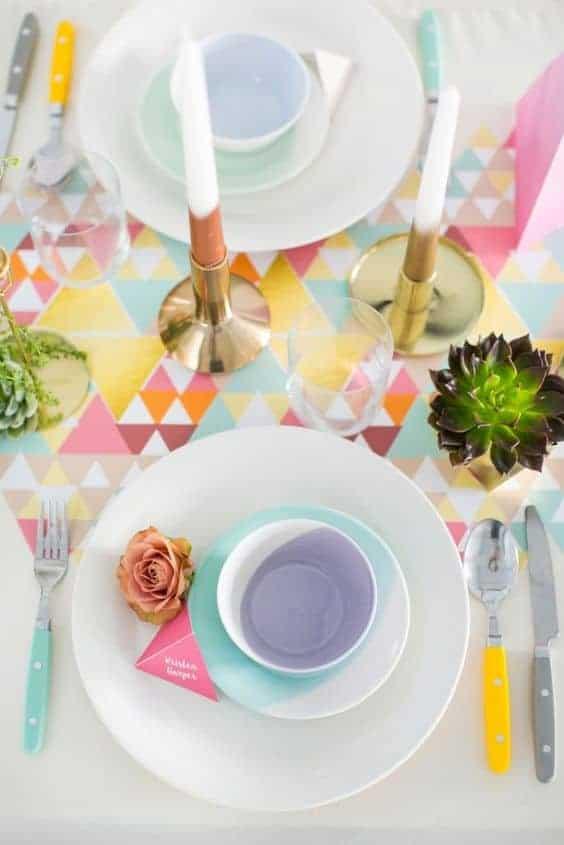 Colour Block Dinnerware sets