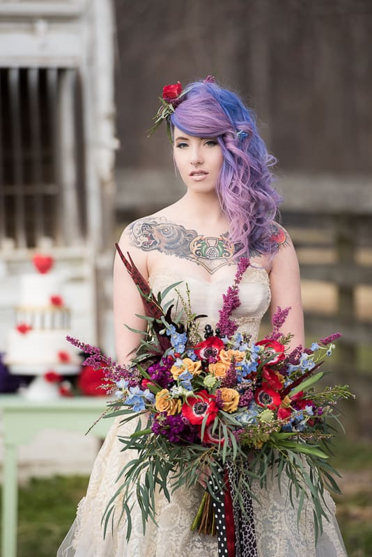 COLOURFUL ROCKABILLY TATTOOED BRIDAL INSPIRATION (4)