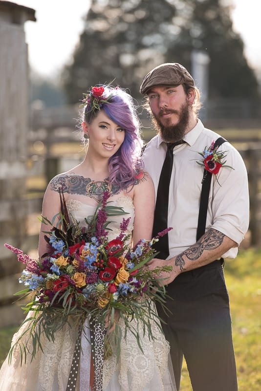 COLOURFUL ROCKABILLY TATTOOED BRIDAL INSPIRATION (9)