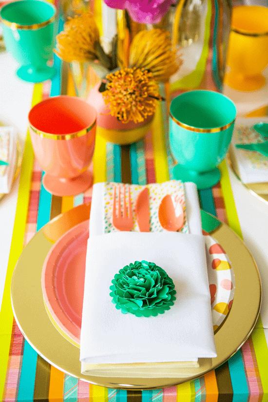 Colourful wedding decor table oh joy target 2