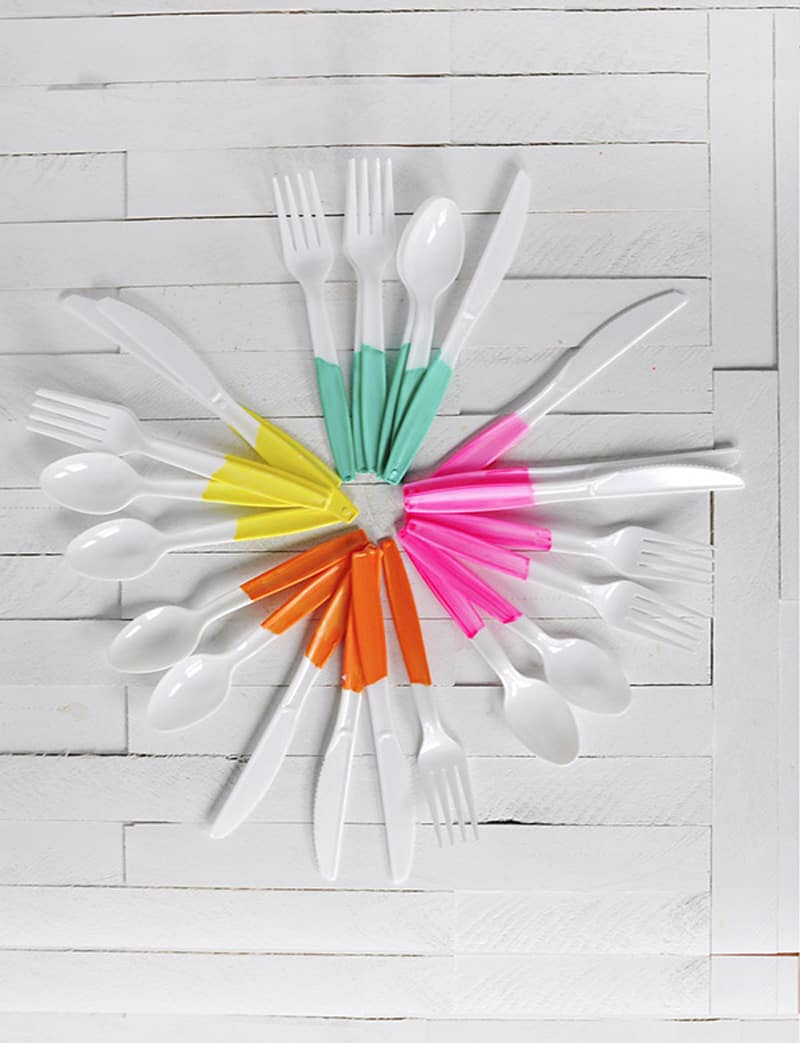 Painted-Plastic-Flatware