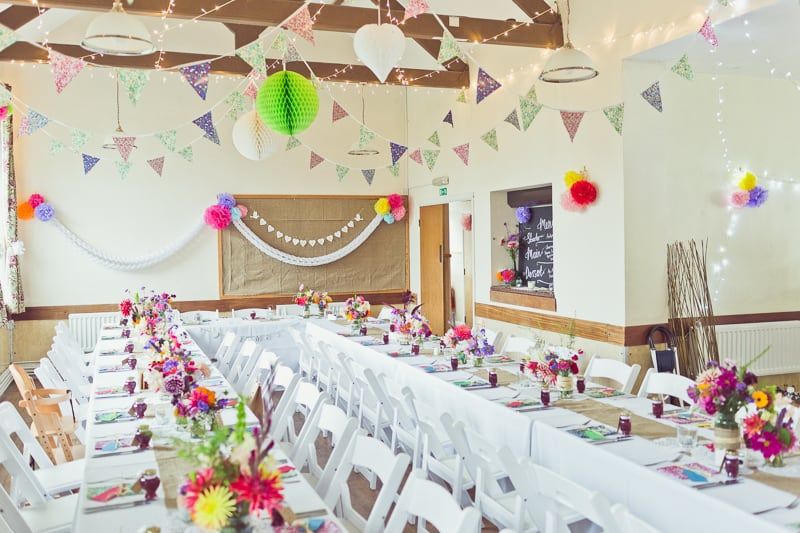 THIS CUTE DIY WEDDING IN A VILLAGE HALL IS EVERY CRAFTER'S DREAM! (17)