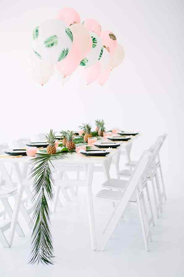 Tropical Wedding Styling Palm Balloons 2