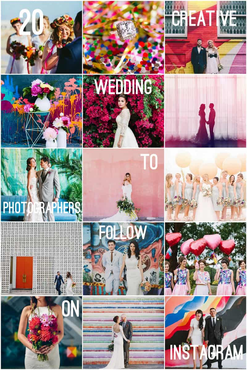 OUR TOP 20 CREATIVE WEDDING PHOTOGRAPHERS TO FOLLOW ON INSTAGRAM ...