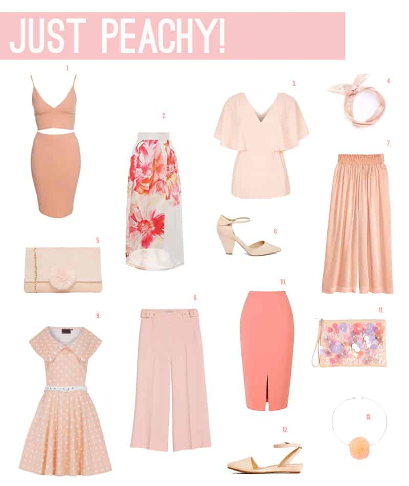 JUST PEACHY - 13 OUTFITS FOR WEDDING GUESTS
