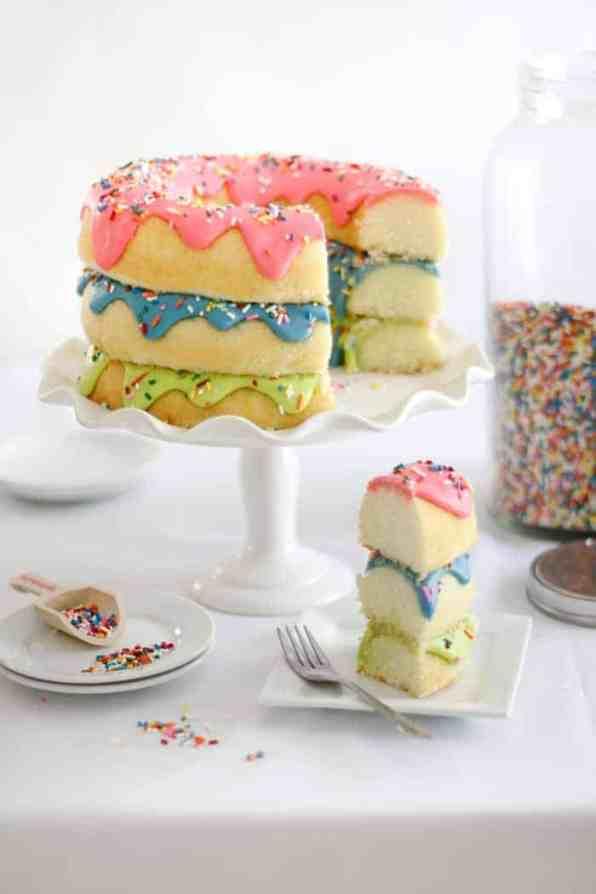 Triple Stack Donut Cake 7