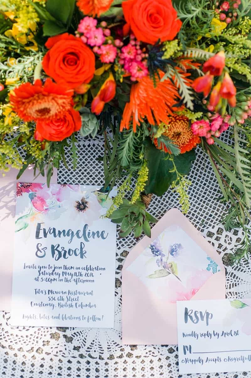 WATERCOLOUR MEXICAN FIESTA INSPIRED WEDDING IDEAS (2)