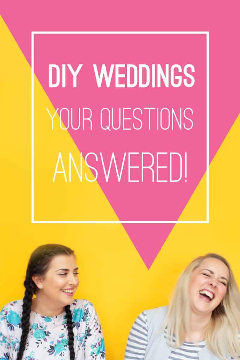DIY Weddings questions answers Q & A Bespoke Bride Advice