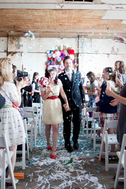Elsies Wedding Ceremony- A Beautiful Mess- Abandoned Warehouse