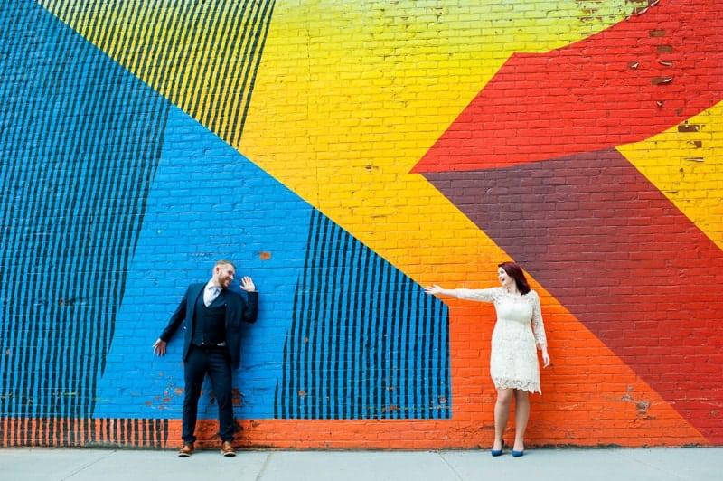 SWEET NYC, BROOKLYN BRIDGE ELOPEMENT COLOURFUL WALL MURALS (10)