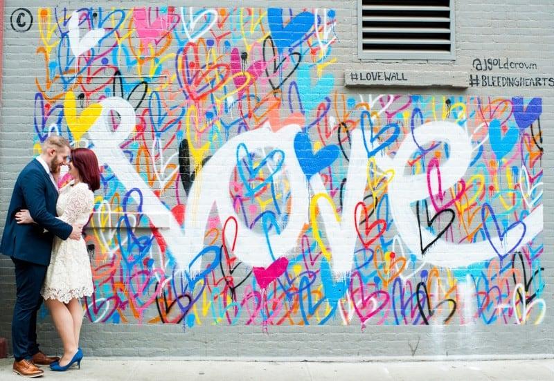 SWEET NYC, BROOKLYN BRIDGE ELOPEMENT COLOURFUL WALL MURALS (4)