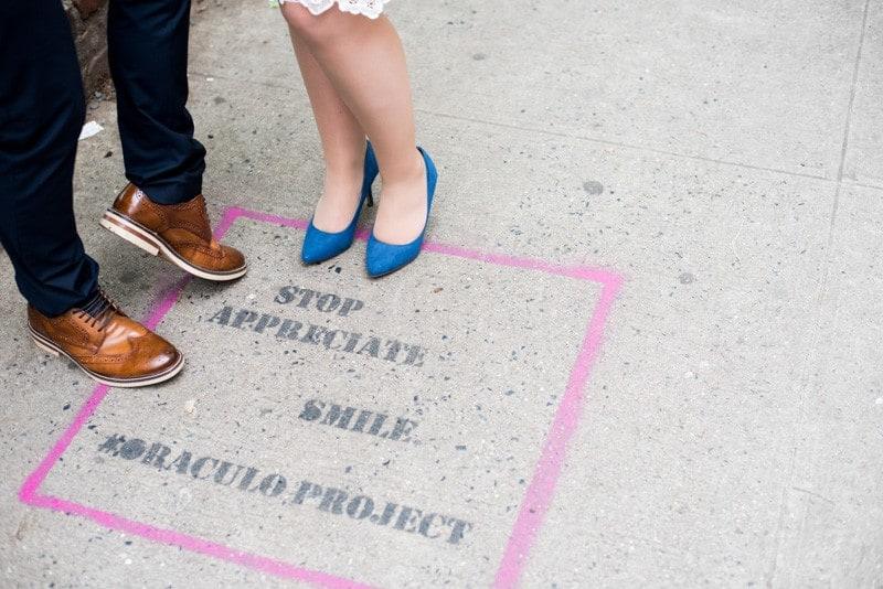 SWEET NYC, BROOKLYN BRIDGE ELOPEMENT COLOURFUL WALL MURALS (6)