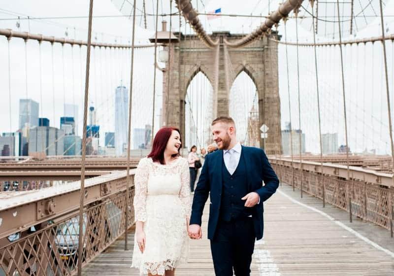 SWEET NYC, BROOKLYN BRIDGE ELOPEMENT COLOURFUL WALL MURALS (8)