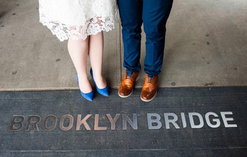 SWEET NYC, BROOKLYN BRIDGE ELOPEMENT COLOURFUL WALL MURALS (9)