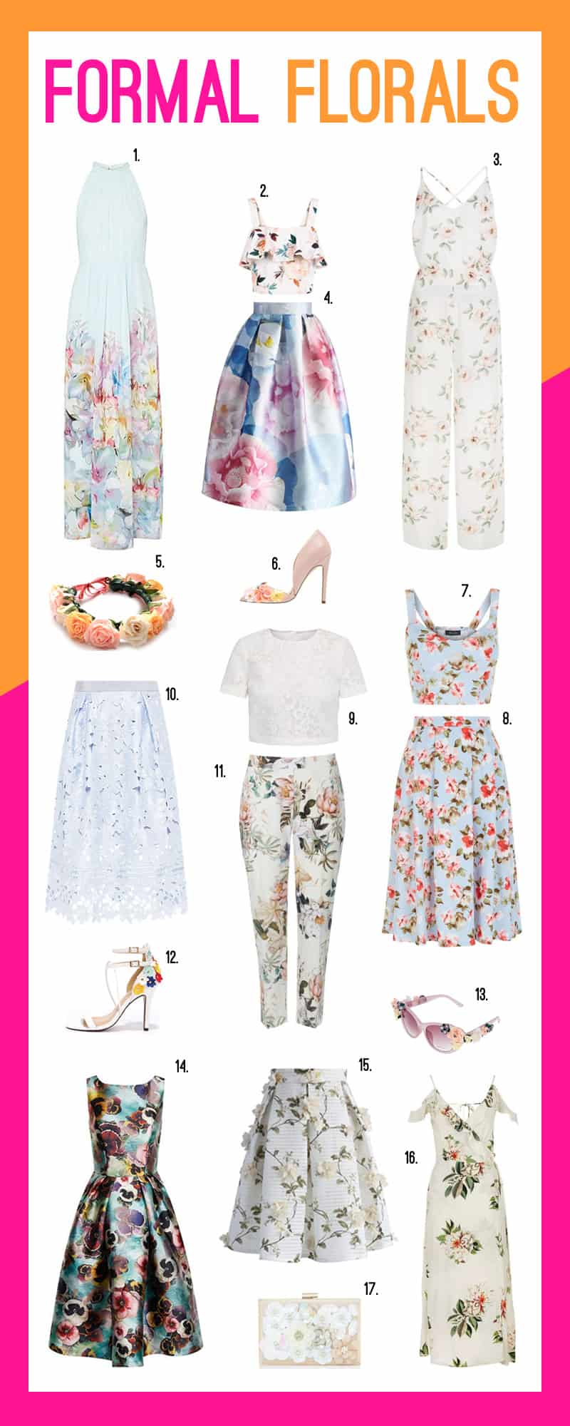 formal florals: 17 floral outfit ideas for a summer wedding