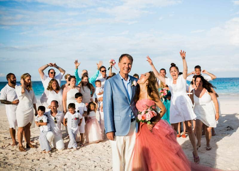 REAL LIFE CINDERELLA FAIRY TALE WEDDING IN THE BAHAMAS WITH A PINK VERA WANG DRESS (13)