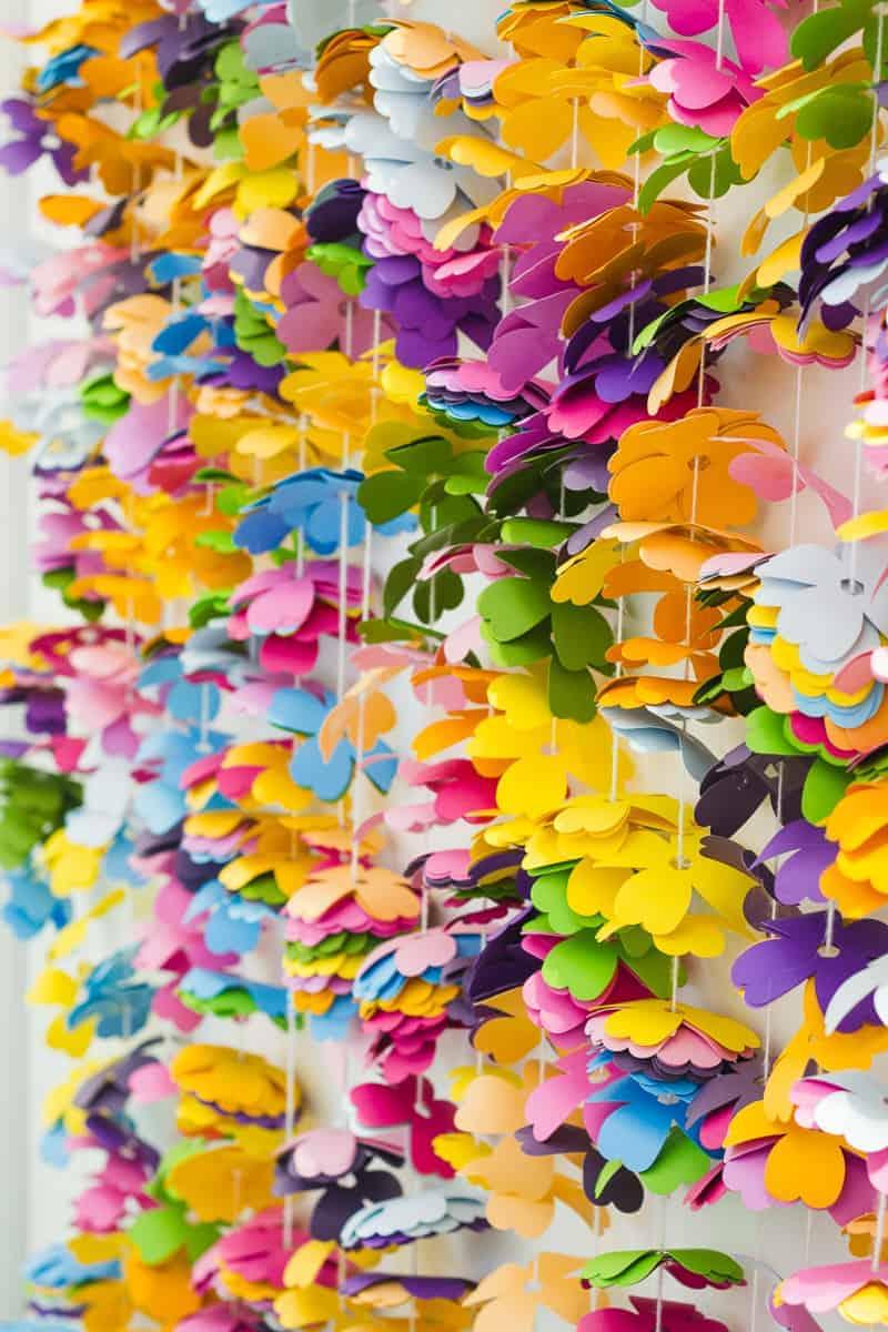 diy-floral-flower-backdrop-bright-colourful-altar-photobooth-cascading-modern-fun-wedding-6