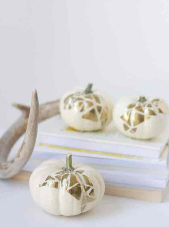 diy-no-carve-gold-geometric-pumpkin-decoration-for-halloween