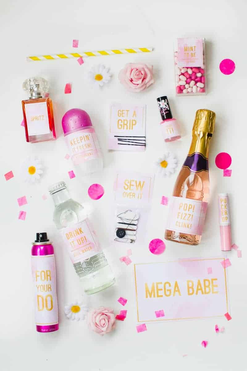 Emergency Bride Kit Wedding day kit DIY make your own box bag essentials labels_-10