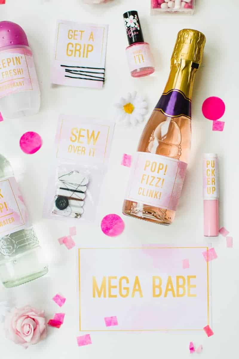 Emergency Bride Kit Wedding day kit DIY make your own box bag essentials labels_-11
