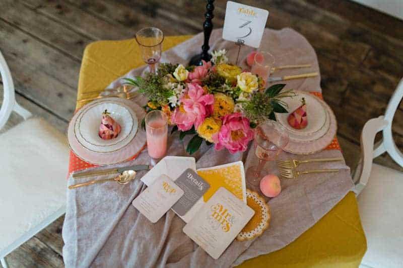 fun-colourful-yellow-coral-peach-wedding-and-bridal-shower-ideas-24