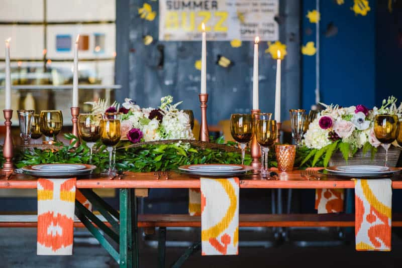 bee-themed-wedding-ideas-in-a-brewery-5