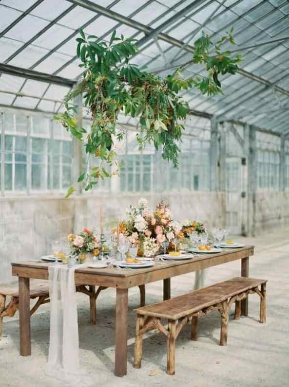Ruffled - photo by Luna de Mare Photography http://ruffledblog.com/greenhouse-romance-wedding-editorial