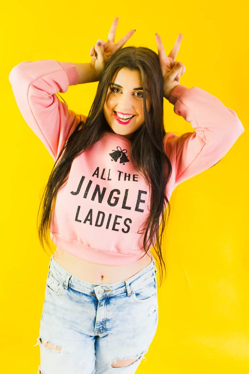 diy-slogan-graphic-christmas-jumper-diy-iron-on-all-the-jingle-ladies-cricut-pink-black-glitter-2