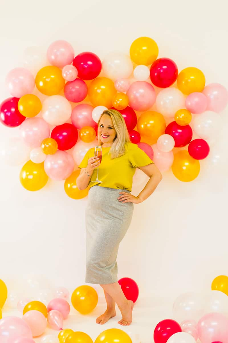 diy balloon wall backdrop for your nye party bespoke